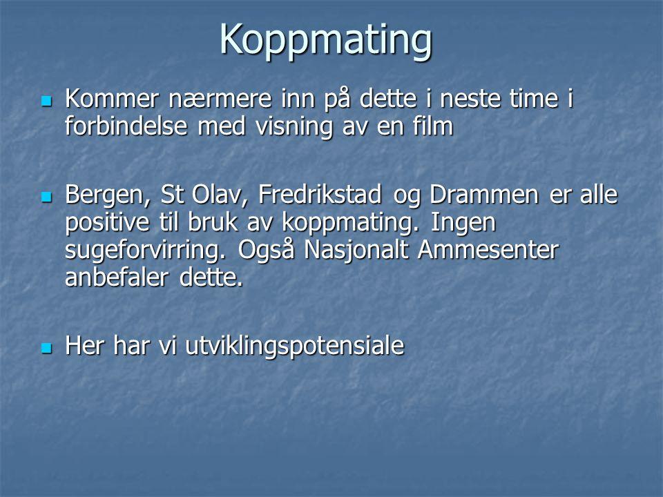 Koppmating Kommer nærmere inn på dette i neste time i forbindelse med visning av en film.