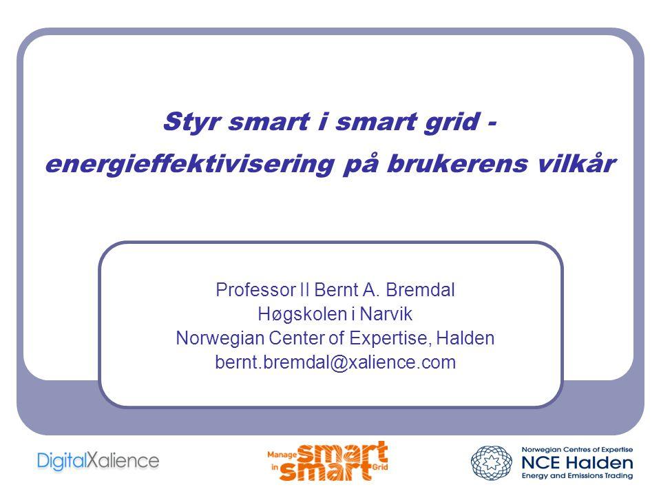 Styr smart i smart grid - energieffektivisering på brukerens vilkår