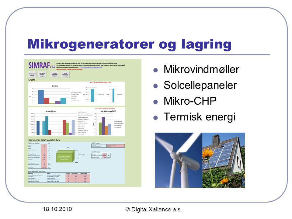 Mikrogeneratorer og lagring