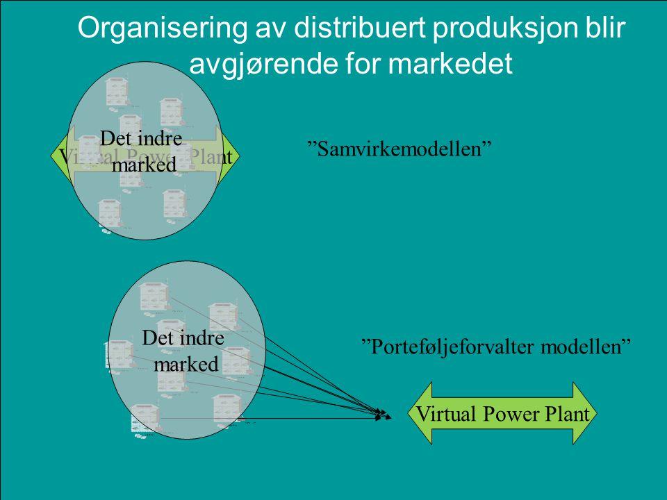 Organisering av distribuert produksjon blir avgjørende for markedet