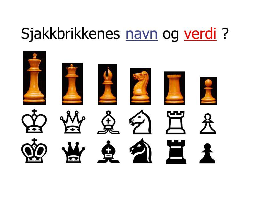 Sjakkbrikkenes navn og verdi