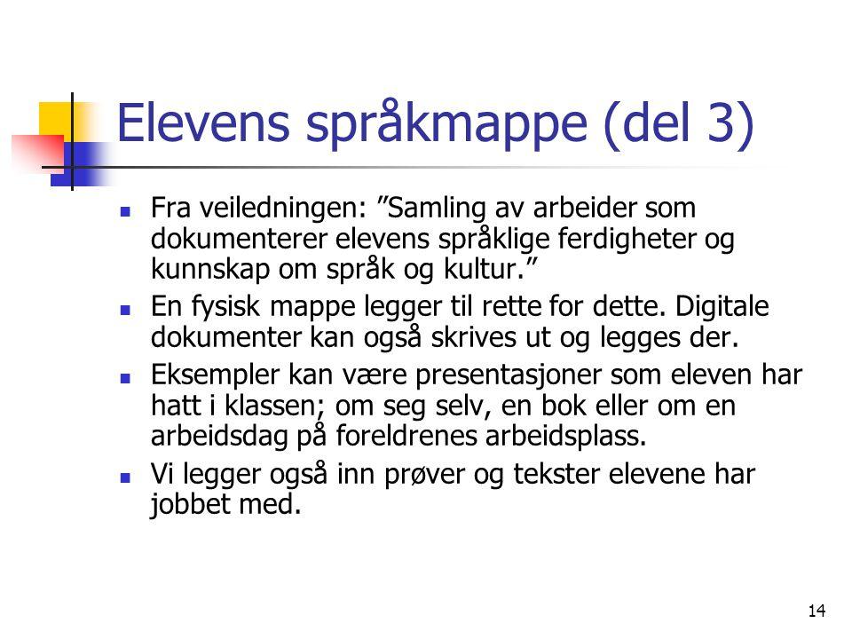 Elevens språkmappe (del 3)
