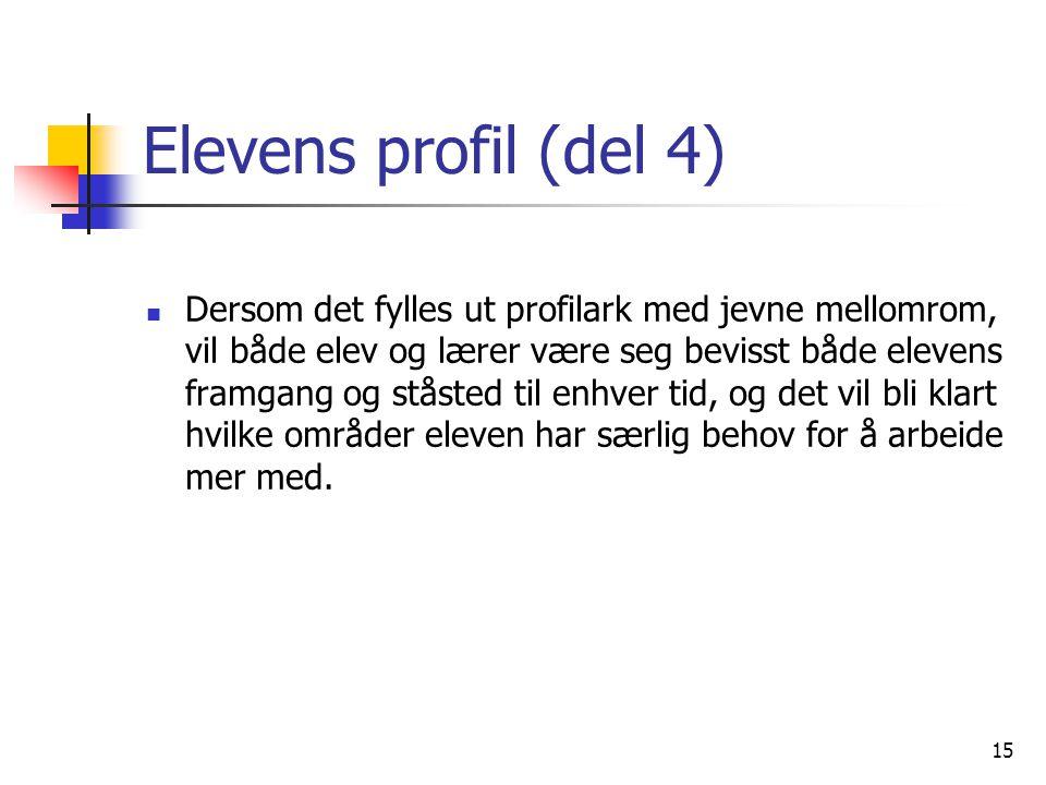Elevens profil (del 4)