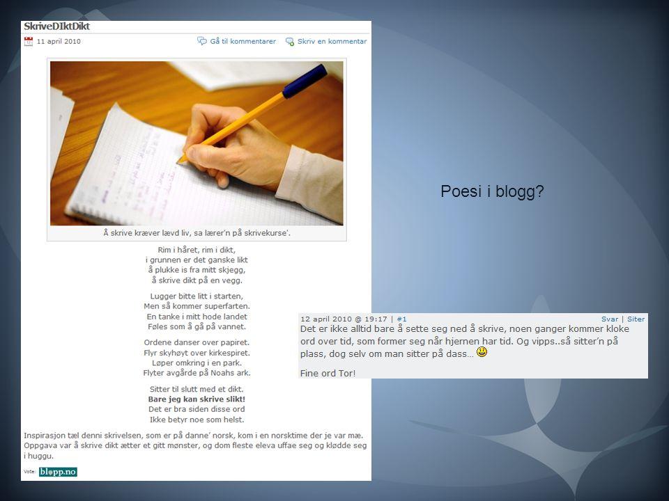 Poesi i blogg
