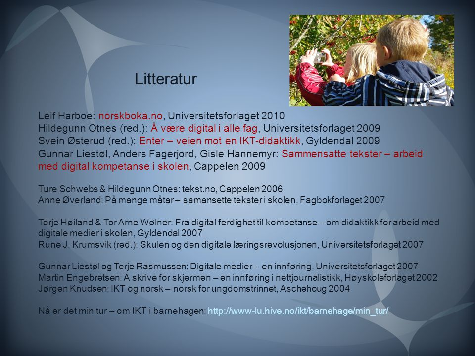 Litteratur Leif Harboe: norskboka.no, Universitetsforlaget 2010