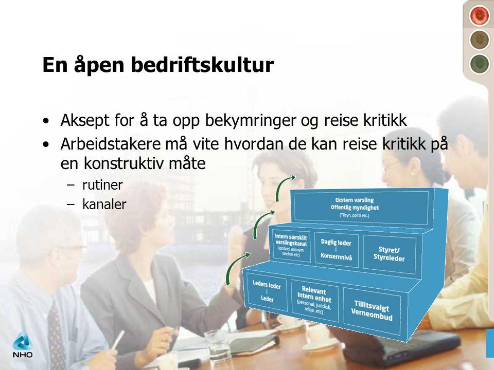 En åpen bedriftskultur