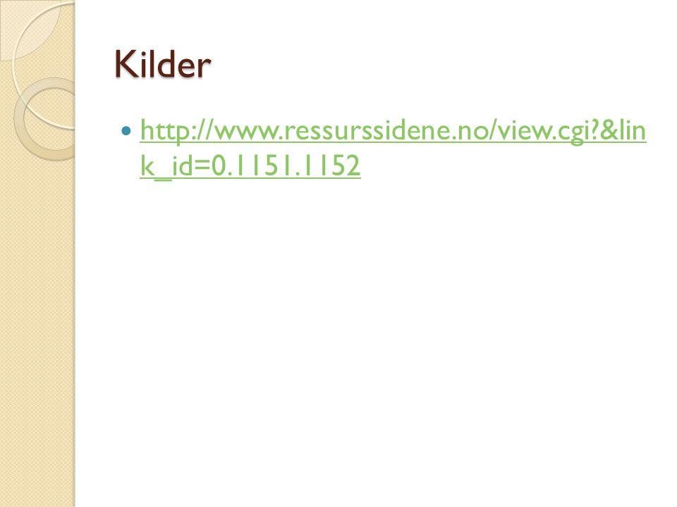 Kilder http://www.ressurssidene.no/view.cgi &lin k_id=0.1151.1152