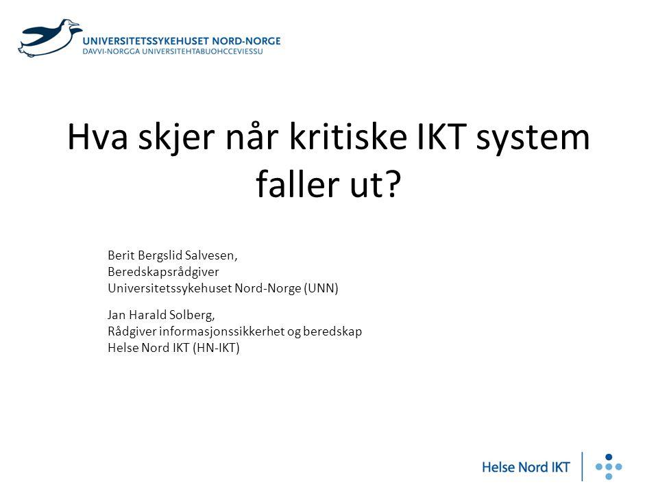 Hva skjer når kritiske IKT system faller ut