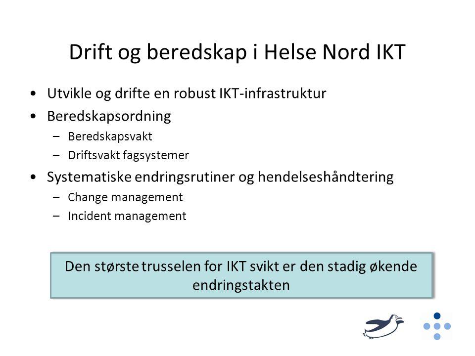 Drift og beredskap i Helse Nord IKT