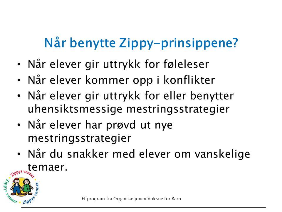 Når benytte Zippy-prinsippene