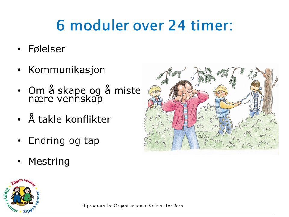 6 moduler over 24 timer: Følelser Kommunikasjon