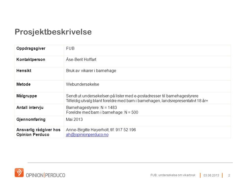 Prosjektbeskrivelse Oppdragsgiver FUB Kontaktperson Åse-Berit Hoffart