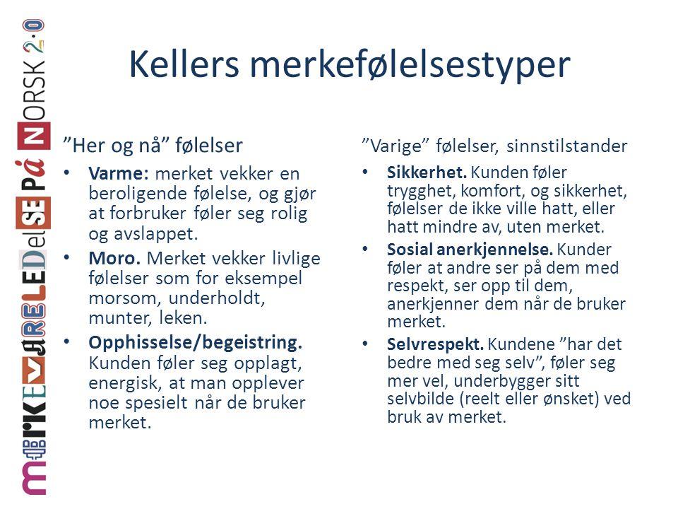 Kellers merkefølelsestyper