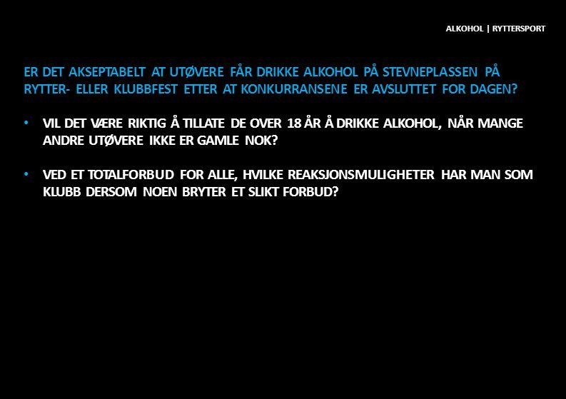 Alkohol | ryttersport