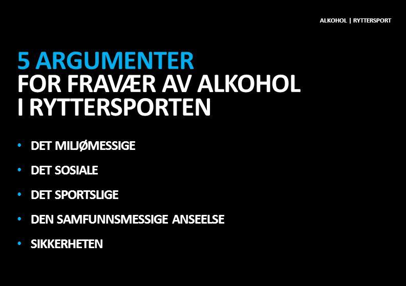 5 argumenter for fravær av alkohol i ryttersporten