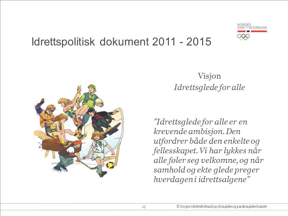 Idrettspolitisk dokument 2011 - 2015