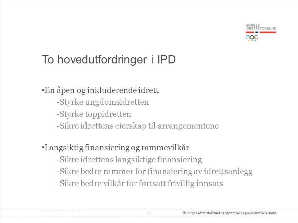 To hovedutfordringer i IPD