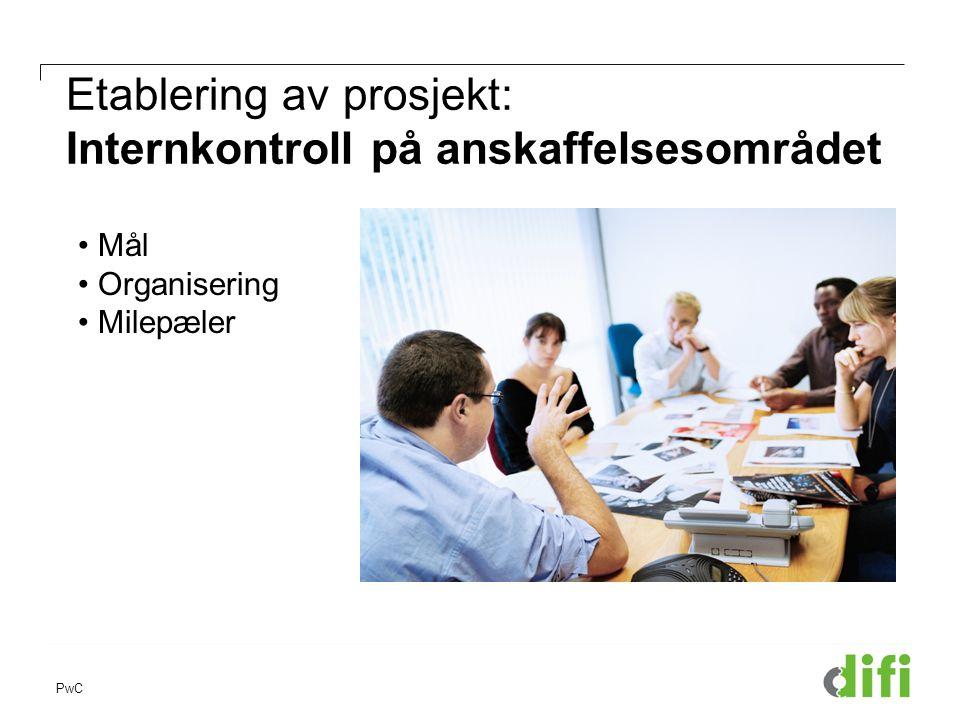 Etablering av prosjekt: Internkontroll på anskaffelsesområdet