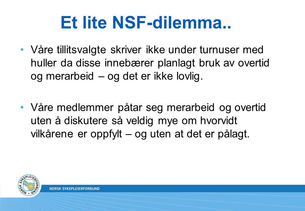 Et lite NSF-dilemma..