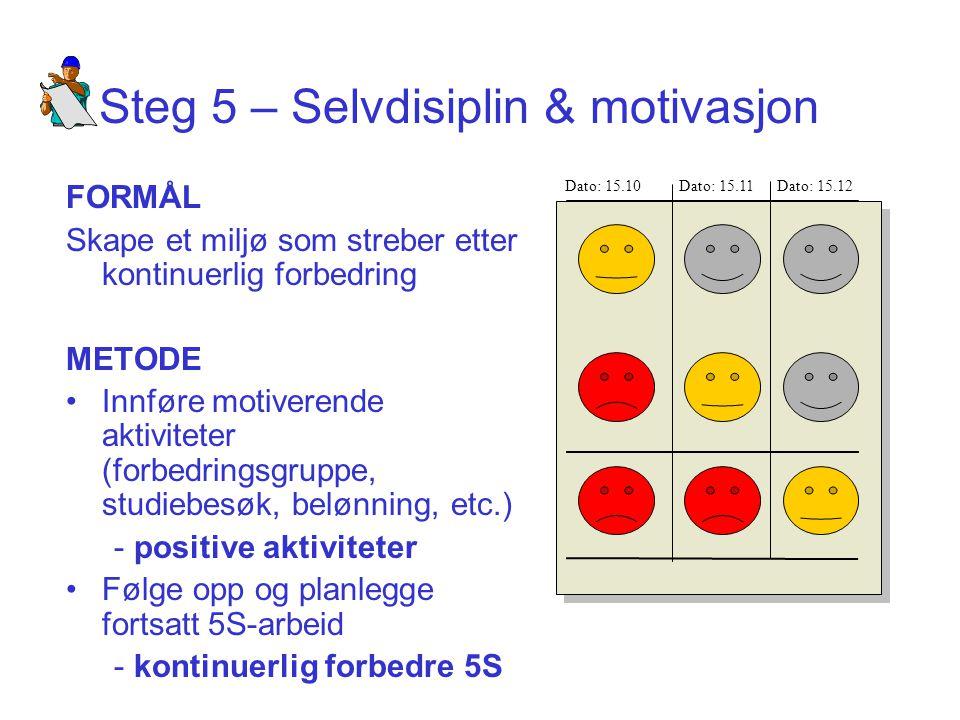 Steg 5 – Selvdisiplin & motivasjon