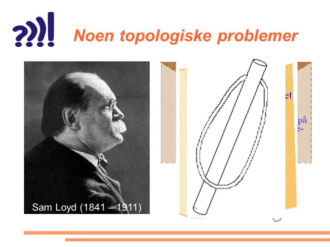 Noen topologiske problemer