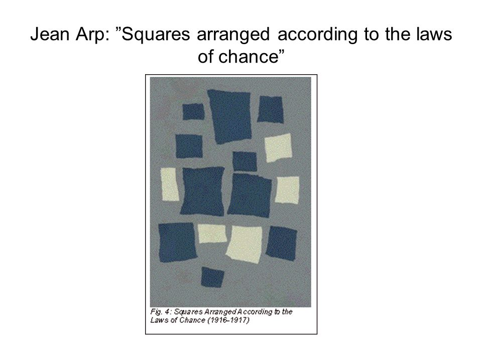Jean Arp: Squares arranged according to the laws of chance