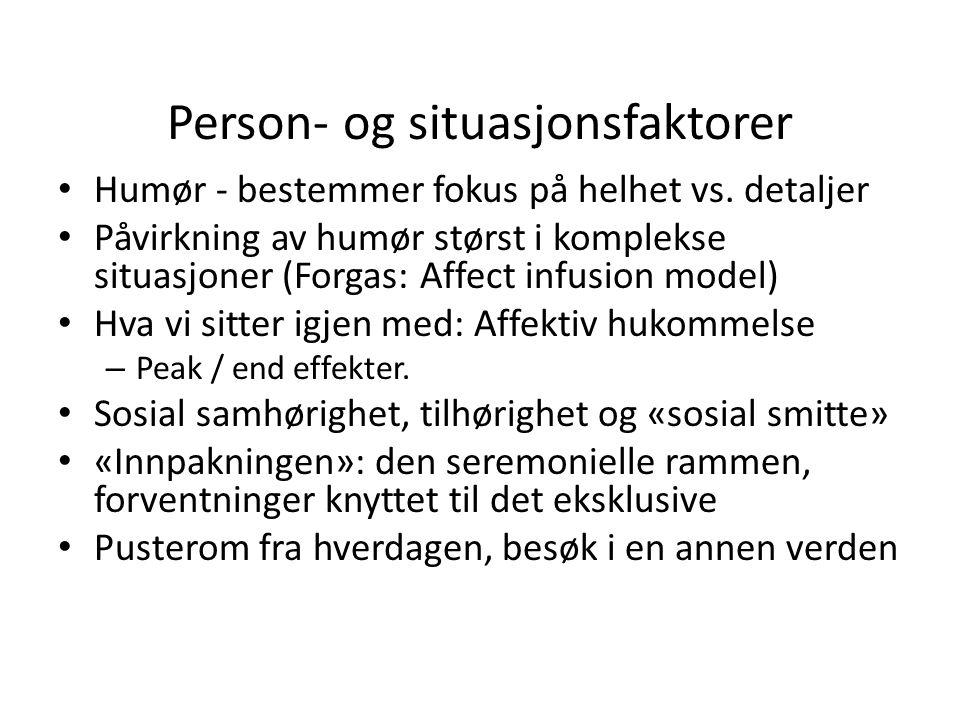Person- og situasjonsfaktorer