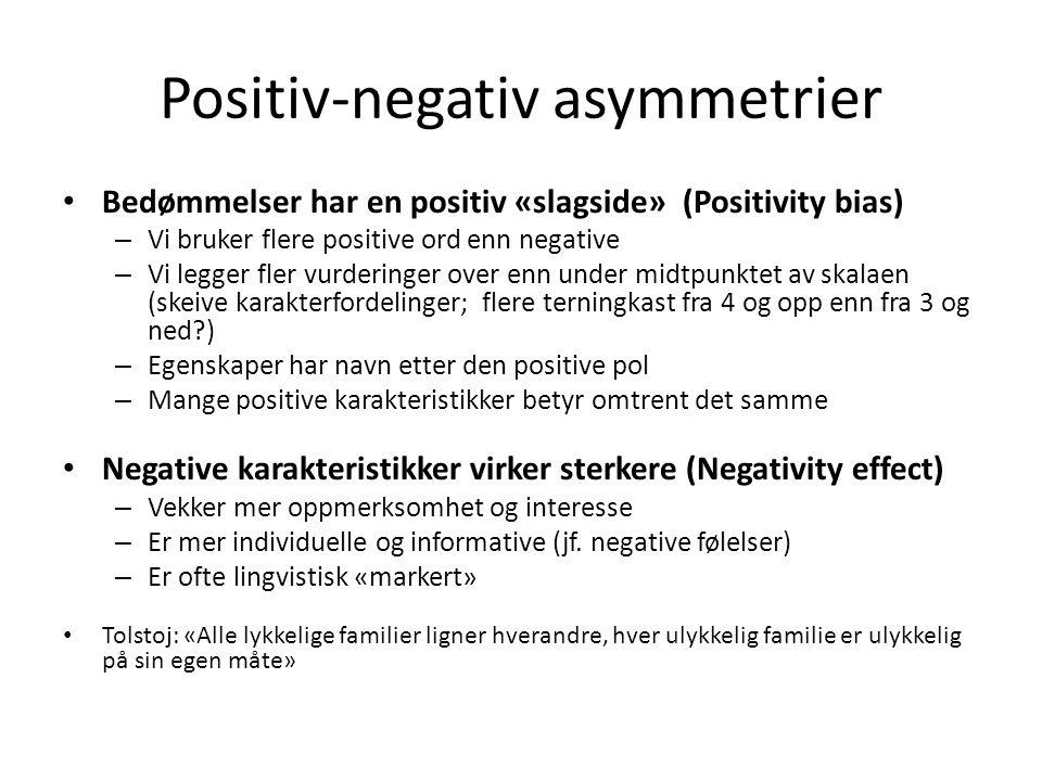 Positiv-negativ asymmetrier