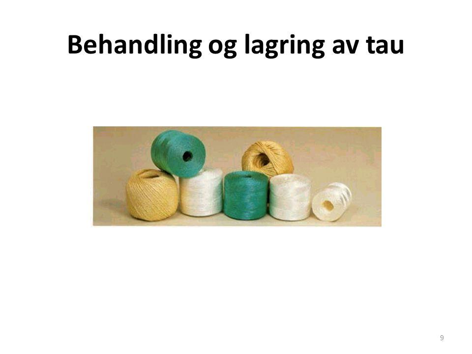 Behandling og lagring av tau