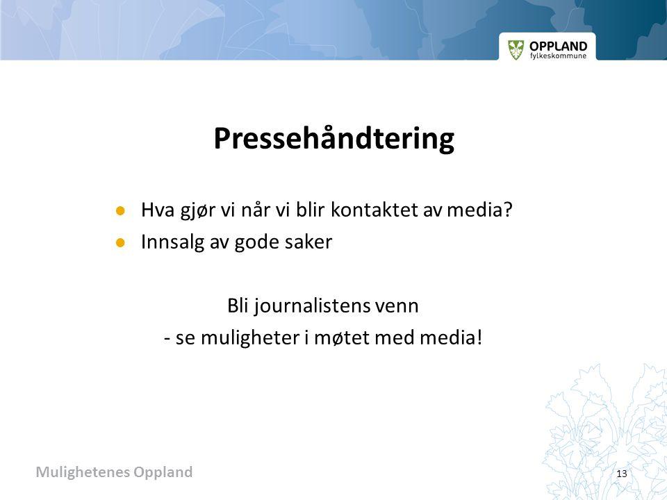Pressehåndtering Hva gjør vi når vi blir kontaktet av media