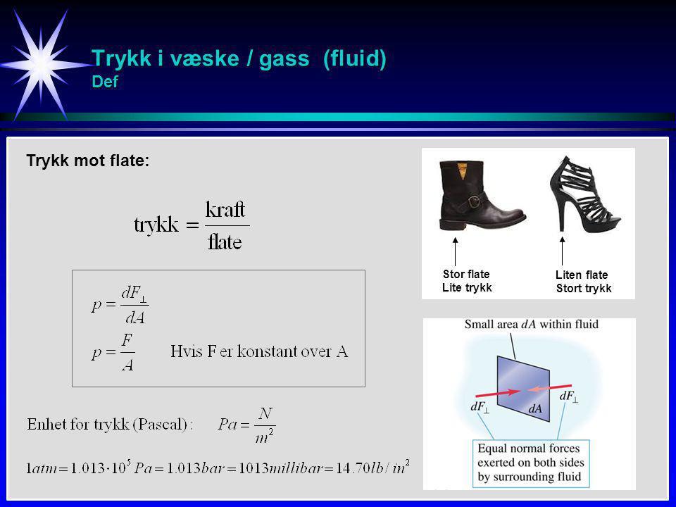 Trykk i væske / gass (fluid) Def