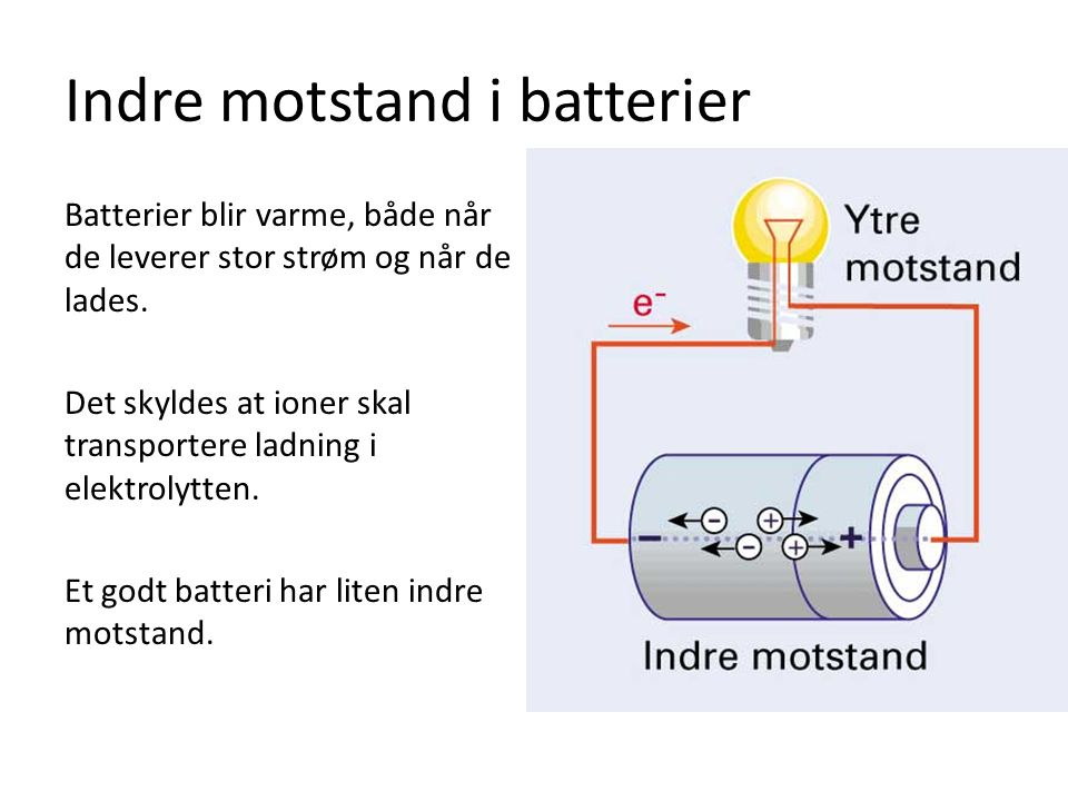 Indre motstand i batterier
