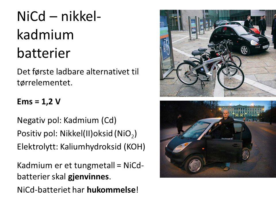 NiCd – nikkel-kadmium batterier