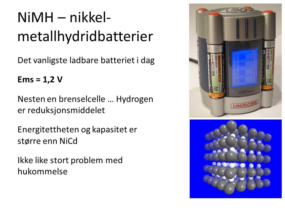 NiMH – nikkel-metallhydridbatterier