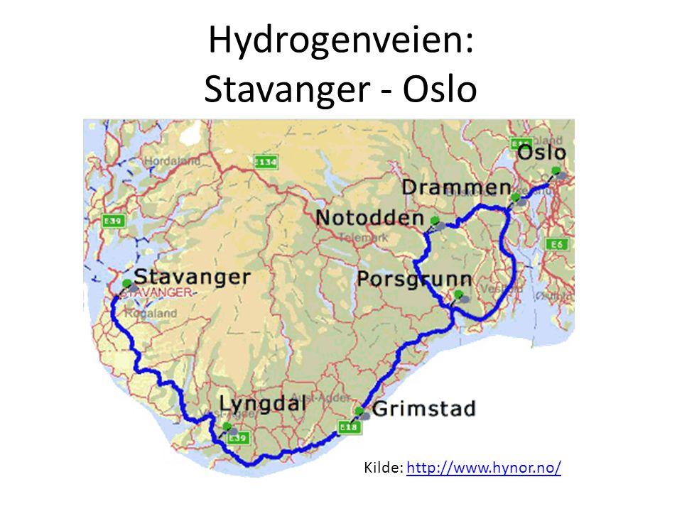 Hydrogenveien: Stavanger - Oslo