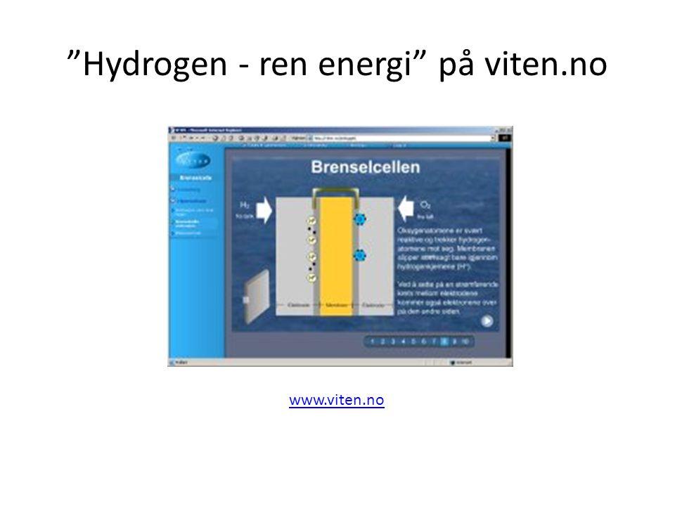 Hydrogen - ren energi på viten.no