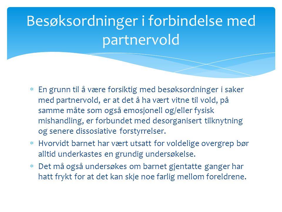 Besøksordninger i forbindelse med partnervold