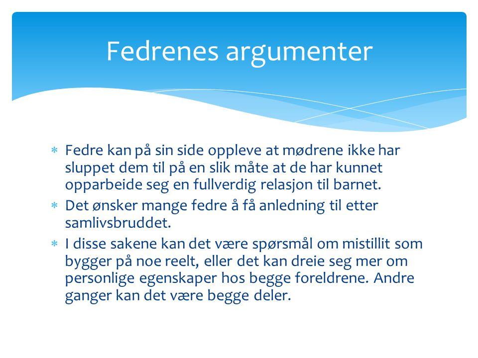 Fedrenes argumenter