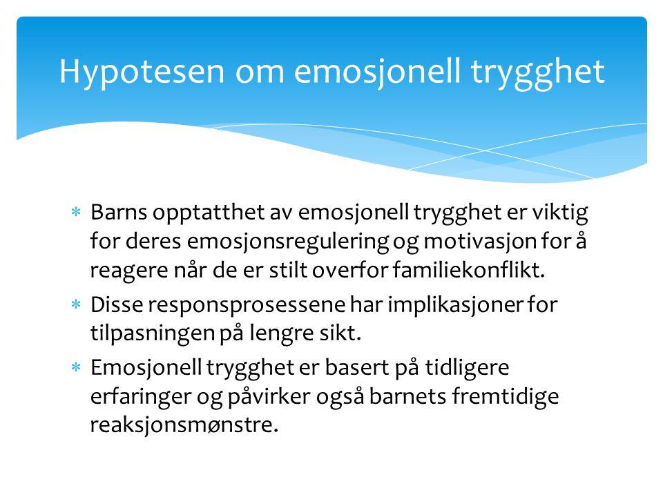 Hypotesen om emosjonell trygghet