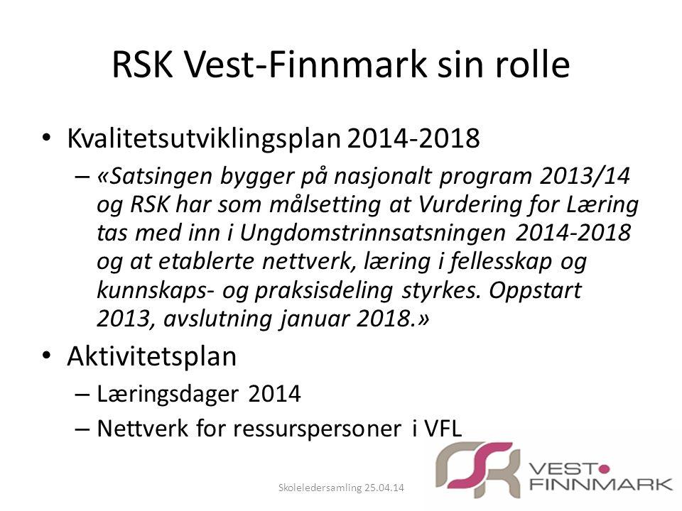 RSK Vest-Finnmark sin rolle