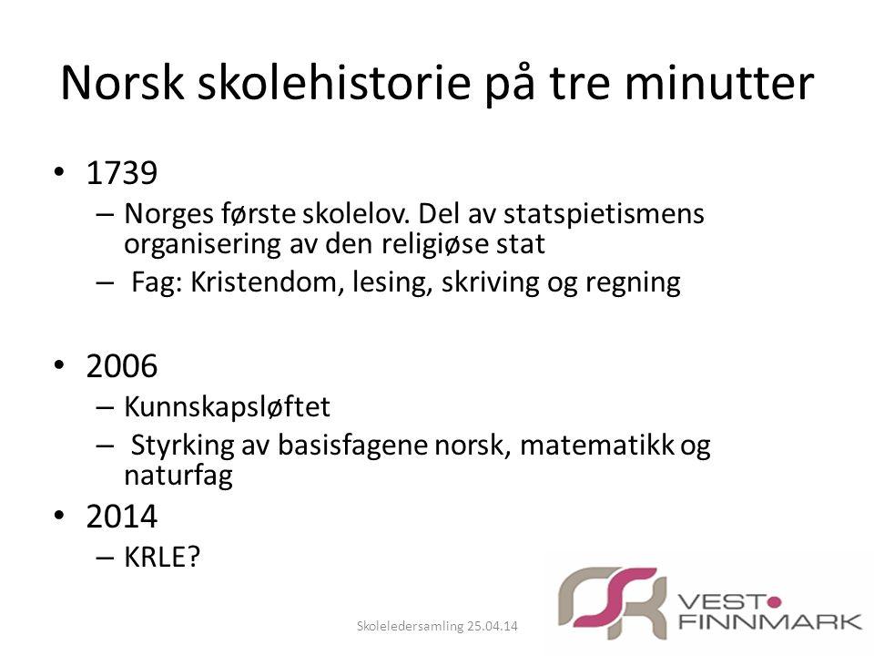 Norsk skolehistorie på tre minutter