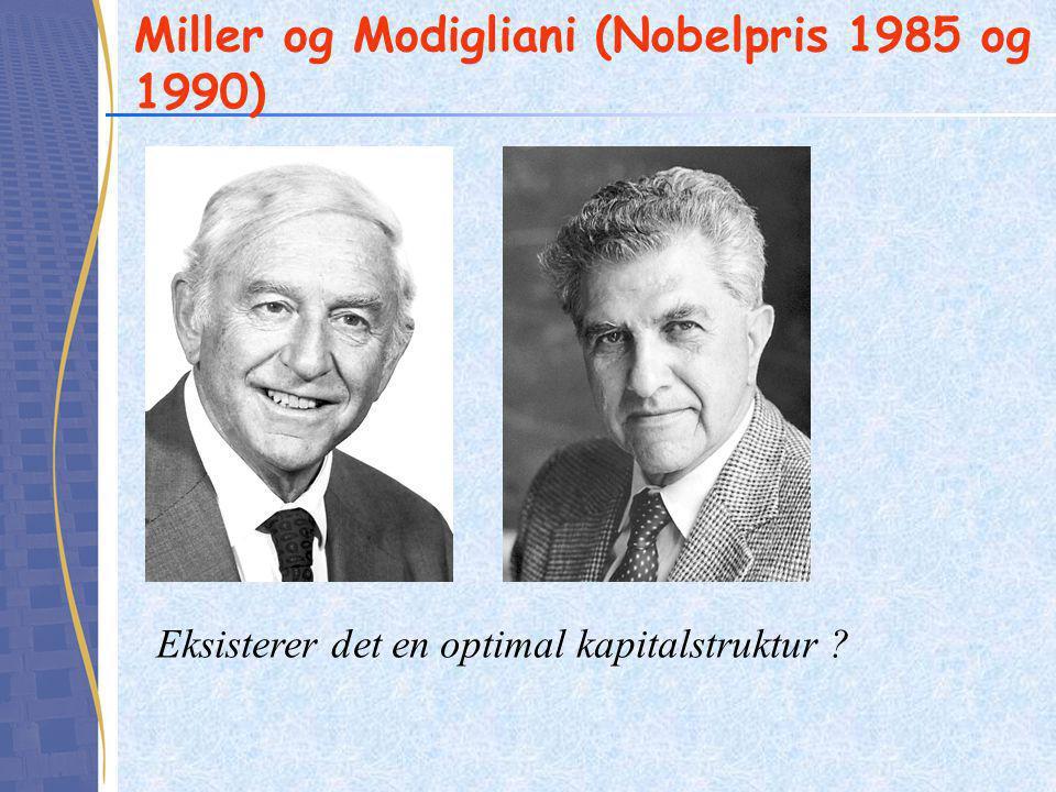 Miller og Modigliani (Nobelpris 1985 og 1990)
