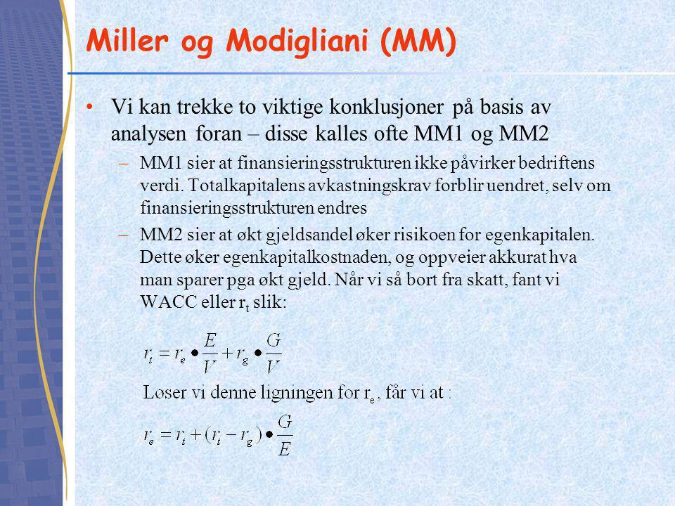 Miller og Modigliani (MM)