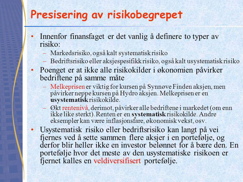 Presisering av risikobegrepet