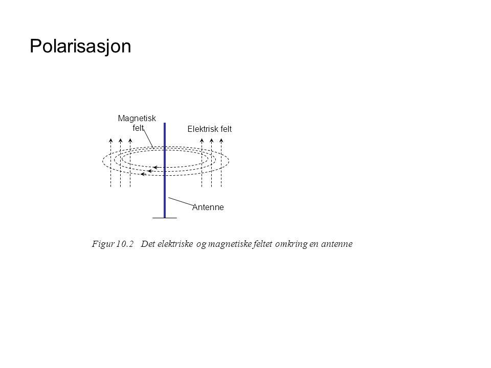 Polarisasjon Elektrisk felt. Magnetisk. felt. Antenne.