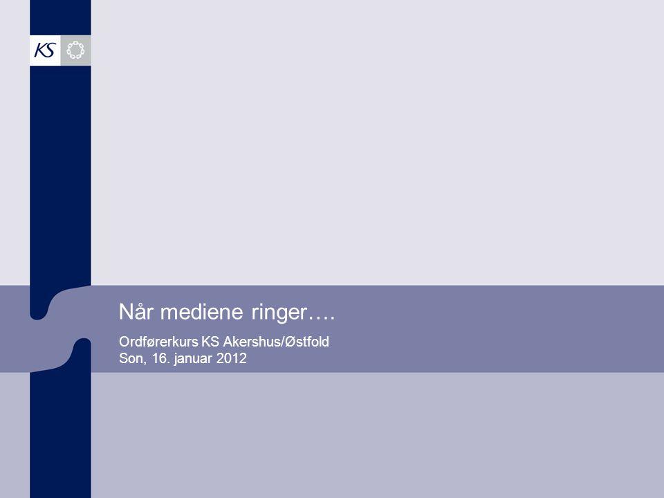 Ordførerkurs KS Akershus/Østfold Son, 16. januar 2012