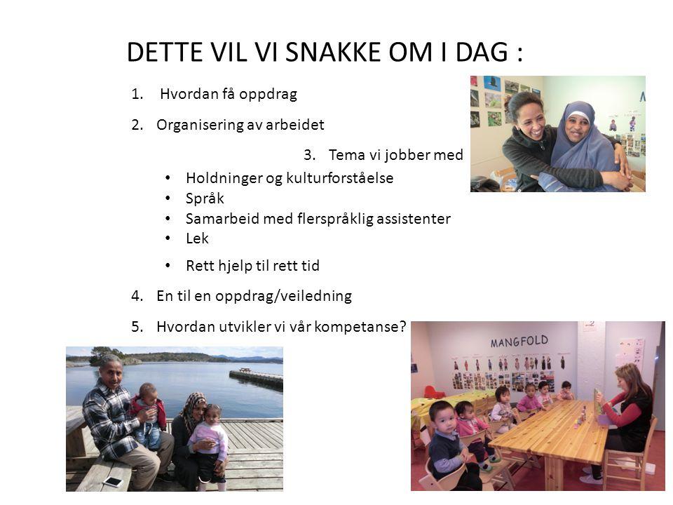 DETTE VIL VI SNAKKE OM I DAG :