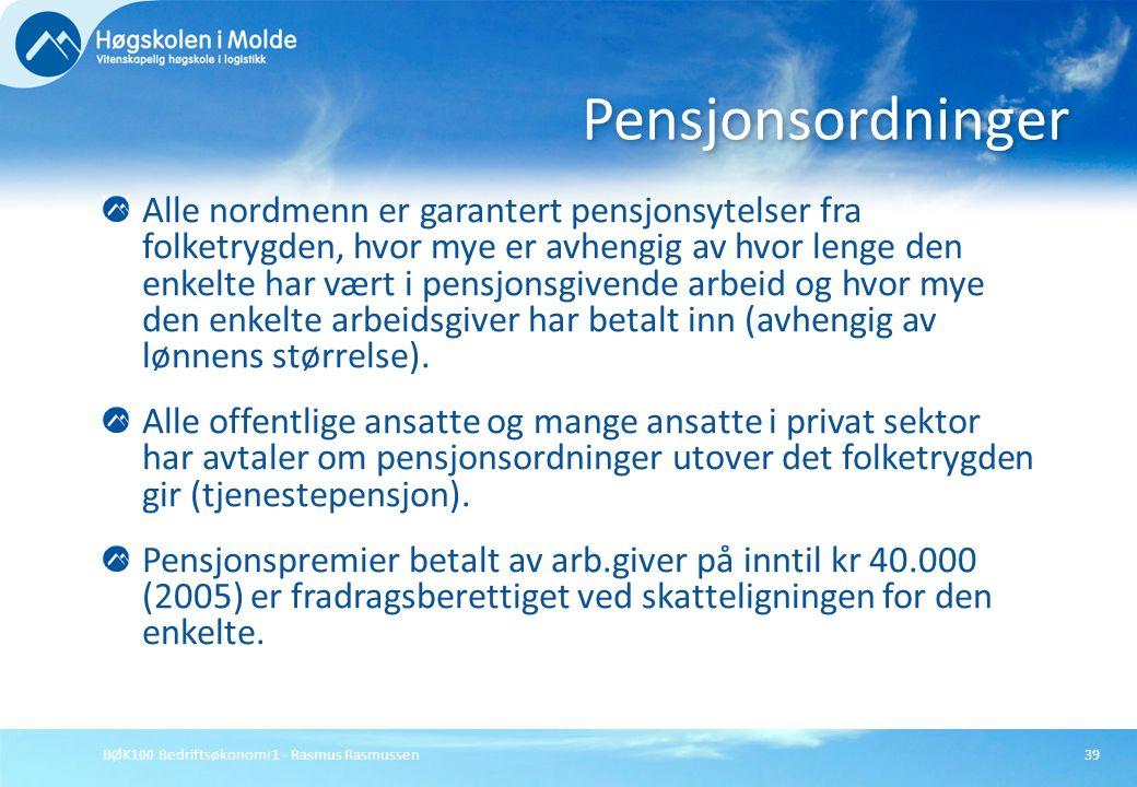 Pensjonsordninger