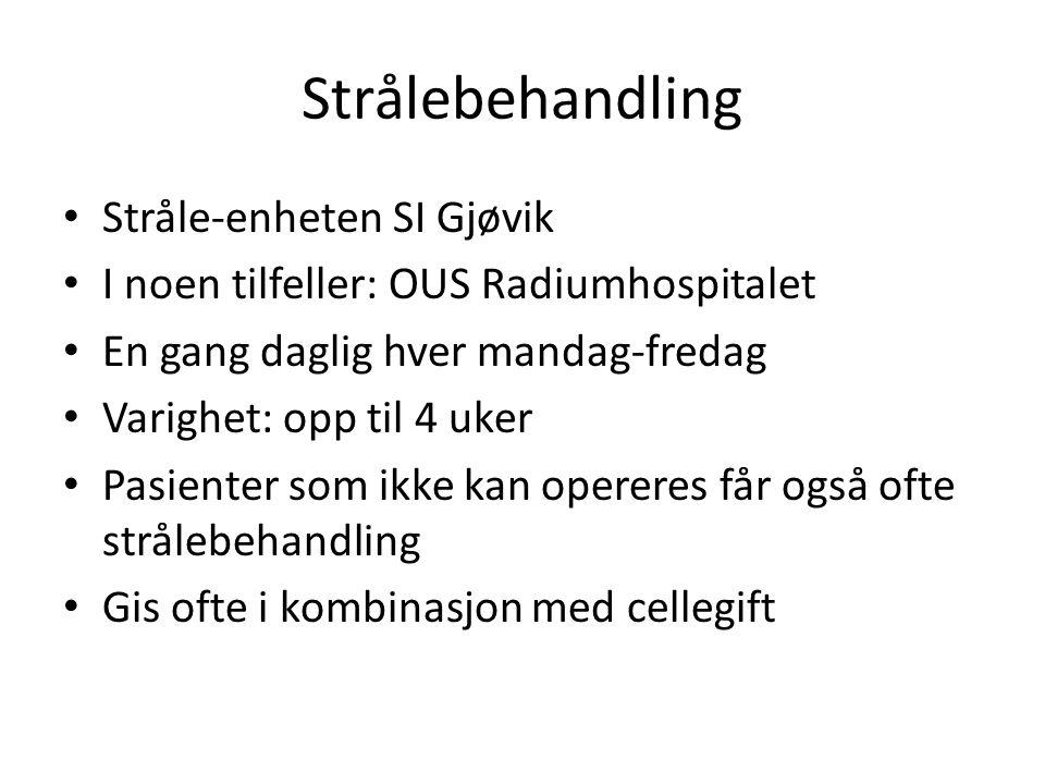 Strålebehandling Stråle-enheten SI Gjøvik