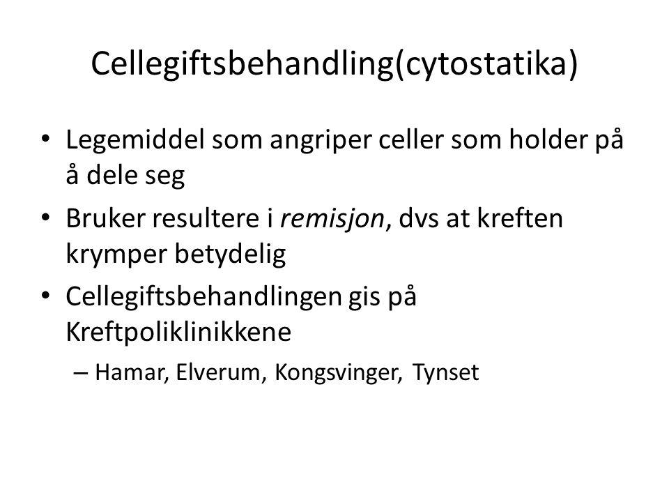 Cellegiftsbehandling(cytostatika)